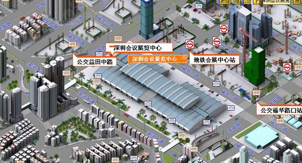 深圳会展中心三维电子地图